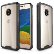 Capa Defense Fusion Anti-Impacto para Motorola Moto G5 Plus - Cor bordas preta
