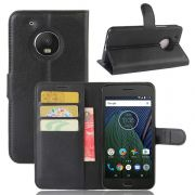 Capa Carteira flip para Motorola Moto G5 Plus - Cor preta