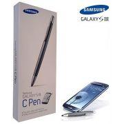 Caneta Stylus capacitiva Samsung Galaxy S III / S4 C-Pen - ETC-S10CSEGSTD - Original
