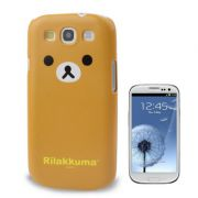 Capa Personalizada Rilakkuma para Samsung Galaxy S3 S III i9300 - marrom amarelado