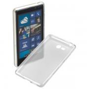 Kit Capa de TPU Premium + Película fosca anti-reflexo para Nokia Lumia 820 - Cor Transparente