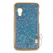 Capa Luxo Fashion Oncinha para LG Optimus L5 II Dual E455 - Cor Azul