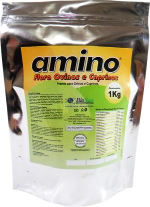 Amino Flora Ovinos e Caprinos. Caixa com 10 Pacotes Laminados de 1 kg