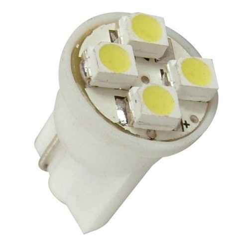 Lâmpada Led 12V T10 Importado 4 Leds (Par) Verde  - BEST SALE SHOP