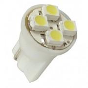 Lâmpada Led 12V T10 Importado 4 Leds (Par) Amarelo