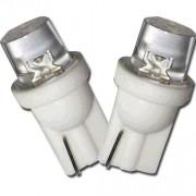 Lâmpada Led 12V T10 Importado 1 Led (Par) Branco