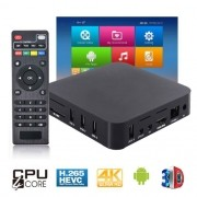 Aparelho Conversor Smart Box Tv Quad Core 8Gb Android 7.1 Exbom OTT-A2 4K 3D Ultra HD Hdmi Usb Wifi