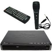 Aparelho Dvd Player Hdmi Hd 5.1 Rca Usb Mp3 Função Karaoke Microfone Knup KP-D112 Preto Bivolt