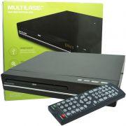Aparelho Dvd Player Rca 2.0 Canais Usb Mp3 Cd Ripping Multilaser Preto SP252 Bivolt