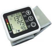 Aparelho Medidor de Pressão Arterial e Pulsação Digital Voz Automático Punho Next Trading ZK-W863PA