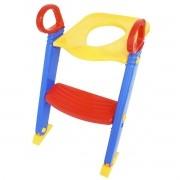 Assento Sanitário Redutor Infantil com Escada e Alça Dobrável Portátil Brinqway BW-071