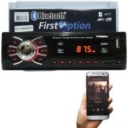 Auto Rádio Som Mp3 Player Automotivo Carro Bluetooth First Option 8620BS Fm Sd Usb Aux