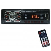 Auto Rádio Som Mp3 Player Automotivo Carro Bluetooth Fm Sd Usb Controle First Option 6630BN