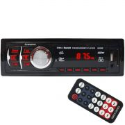 Auto Rádio Som Mp3 Player Automotivo Carro Bluetooth Fm Sd Usb Controle First Option 8850B