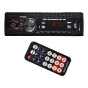 Auto Rádio Som Mp3 Player Automotivo Toca Som Carro First Option Fm Sd Usb Aux com Controle