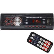 Auto Rádio Som Mp3 Player Automotivo Toca Som Carro Fm Sd Usb Aux Controle First Option 8860