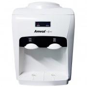 Bebedouro Refrigerado Eletrônico Bivolt Água Gelada Natural Garrafão Galão Amvox ABB 240 Branco