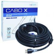 Cabo Hdmi Macho/Macho 15 Metros com Filtro Emborrachado Blindado Full HD 1080 Exbom CBX-H150SM Preto