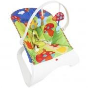 Cadeira Cadeirinha Bebê Descanso Vibratória Musical Brinquedos Menino Azul Importway BW-095AZ