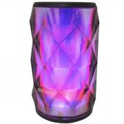 Caixa de Som Bluetooth Portátil Bateria Recarregável com Led Colorido Preta Exbom CS-M54BT