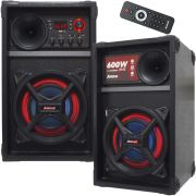 Caixa Som Amplificada Bluetooth 600W Rms Ativa Passiva Mp3 Fm Usb Sd Aux Led Tws Amvox ACA 601 NEW X