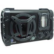 Caixa Som Amplificada Portátil Bluetooth 45W Rms Mp3 Fm Am Sw Usb Bivolt Bateria Amvox ACA 90 Clock