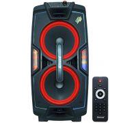 Caixa Som Amplificada Portátil Bluetooth 750W Rms Mp3 Fm Usb Sd Aux Led Tws Bateria Amvox ACA 757 X