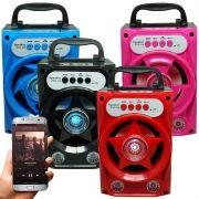 Caixa Som Amplificada Portátil Bluetooth Mp3 Fm Usb Sd Aux Bateria 5W Rms ZYG-518