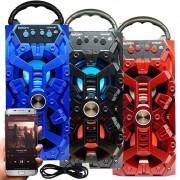 Caixa Som Amplificada Portátil Bluetooth Mp3 Fm Usb Sd Aux Bateria 8W Rms Exbom CS-M232BT