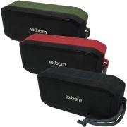 Caixa Som Amplificada Portátil Bluetooth Prova D´água 5W Mp3 Fm Usb Sd Aux Bateria Exbom CS-M86BT