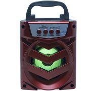 Caixa Som Amplificada Portátil Bluetooth Tws Mp3 Fm Usb Aux Bateria 8W Rms Grasep D-BH1065 Vermelha