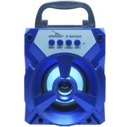 Caixa Som Amplificada Portátil Bluetooth Tws Mp3 Fm Usb Aux Sd Bateria 8W Rms Grasep D-BH1064 Azul