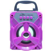 Caixa Som Amplificada Portátil Bluetooth Tws Mp3 Fm Usb Aux Sd Bateria 8W Rms Grasep D-BH1064 Pink