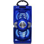 Caixa Som Portátil Bluetooth Mp3 Fm Usb Sd Aux Microfone Bateria 12W Rms Infokit Azul VC-M873BT