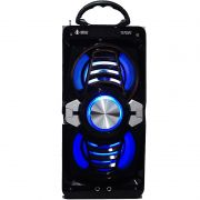 Caixa Som Portátil Bluetooth Mp3 Fm Usb Sd Aux Microfone Bateria 12W Rms Infokit Preta VC-M873BT