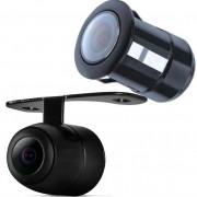 Câmera de Ré Estacionamento Parachoque Borboleta 2X1 Flex Preto