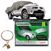 Capa Automotiva Cobrir Carro Protetora Forrada Total e Cadeado Tamanho XGG Carrhel