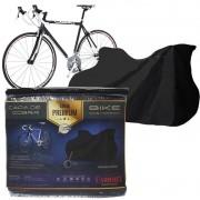Capa Cobrir Bicicleta Bike Protetora Couro Ecológico Premium Forrada Impermeável até Aro 29 Carrhel