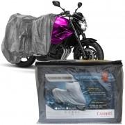 Capa Cobrir Moto Protetora Forrada Impermeável Anti Uv Tamanho GG Carrhel