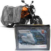Capa Cobrir Moto Protetora Forrada Impermeável Anti Uv Tamanho P M G GG Carrhel
