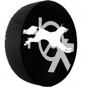 Capa Pneu Roda Estepe Crossfox Universal Cadeado Anti Furto Aro 14 à 17 Carrhel 432 Raposa Branca