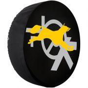 Capa Pneu Roda Estepe Crossfox Universal Cadeado Anti Furto Aro 14 à 17 Carrhel 433 Raposa Amarela