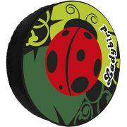 Capa Pneu Roda Estepe Universal com Cadeado Anti Furto Aro 14 à 17 Carrhel 451 Ladybird Joaninha