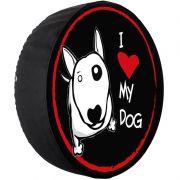 Capa Pneu Roda Estepe Universal com Cadeado Anti Furto Aro 14 à 17 Carrhel 480 I Love Dog My Dog