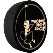 Capa Pneu Roda Estepe Universal com Cadeado Anti Furto Aro 14 à 17 Carrhel 482 Welcome To The Jungle
