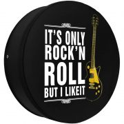 Capa Pneu Roda Estepe Universal com Cadeado Anti Furto Aro 14 à 17 Carrhel 483 Its Only Rockn Roll