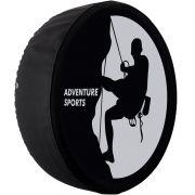 Capa Pneu Roda Estepe Universal com Cadeado Anti Furto Aro 14 à 17 Carrhel 489 Adventure Sports