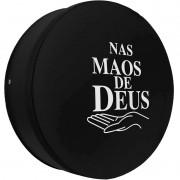 Capa Pneu Roda Estepe Universal com Cadeado Anti Furto Aro 14 à 17 Carrhel 491 Nas Mãos de Deus