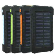 Carregador Portátil Power Bank Solar Bateria 8000 mAh Celular 2 x Usb Exbom PB-S80 Lanterna