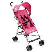Carrinho de Bebê Passeio Infantil Guarda Chuva Multilaser Weego Way BB508 Rosa Menina Reclinável